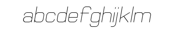 Elgethy Oblique Font LOWERCASE