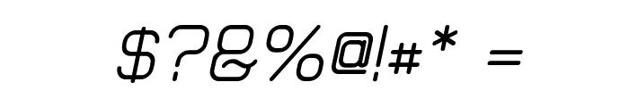 Elgethy Upper Bold Oblique Font OTHER CHARS