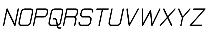 Elgethy Upper Bold Oblique Font UPPERCASE