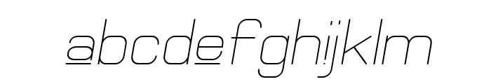 Elgethy Upper Oblique Font LOWERCASE
