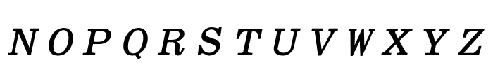 Elite Bold Italic Font UPPERCASE