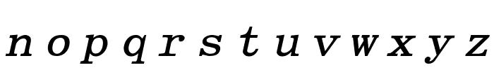 Elite Bold Italic Font LOWERCASE