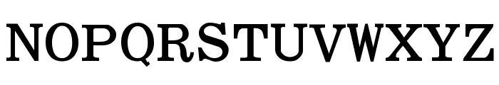 Elite Bold Font UPPERCASE