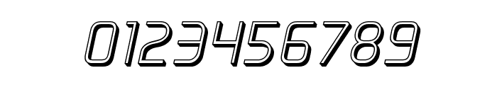 Elite Danger 3D Italic Font OTHER CHARS