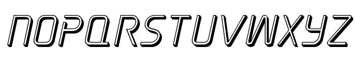 Elite Danger 3D Italic Font UPPERCASE