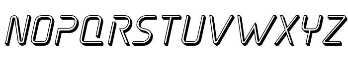 Elite Danger 3D Italic Font LOWERCASE
