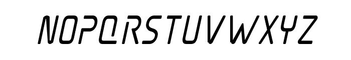 Elite Danger Bold Condensed Italic Font LOWERCASE