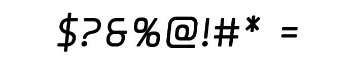 Elite Danger Bold Semi-Italic Font OTHER CHARS