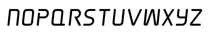 Elite Danger Bold Semi-Italic Font UPPERCASE