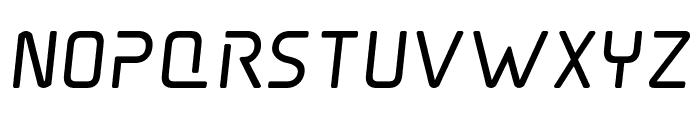 Elite Danger Bold Semi-Italic Font LOWERCASE