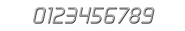 Elite Danger Outline Italic Font OTHER CHARS