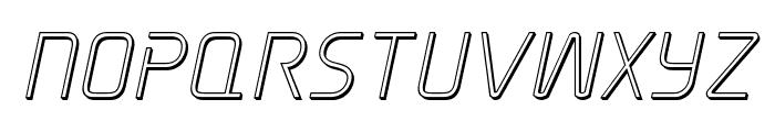 Elite Danger Outline Italic Font UPPERCASE