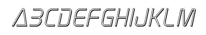 Elite Danger Outline Italic Font LOWERCASE