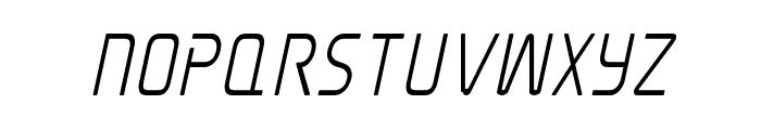 Elite Danger Semi-Bold Condensed Italic Font UPPERCASE
