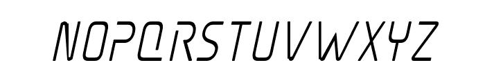 Elite Danger Semi-Bold Condensed Italic Font LOWERCASE