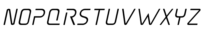 Elite Danger Semi-Bold Italic Font LOWERCASE
