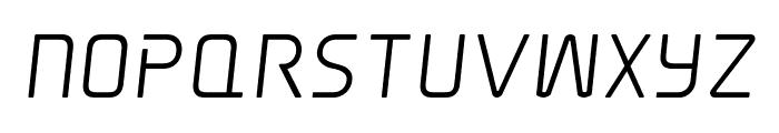 Elite Danger Semi-Bold Semi-Italic Font UPPERCASE