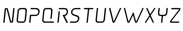 Elite Danger Semi-Bold Semi-Italic Font LOWERCASE