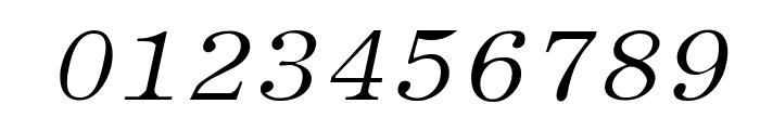 Elite Italic Font OTHER CHARS