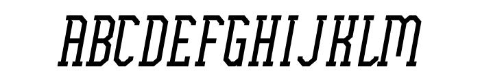 Ellard Jagger Italic Font UPPERCASE