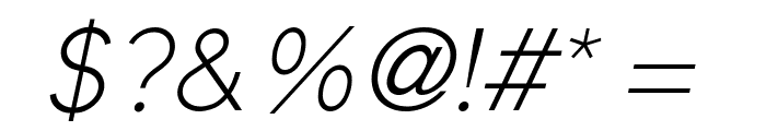 Elliot Sans Light Italic Font OTHER CHARS