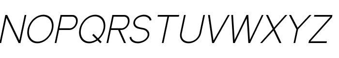Elliot Sans Light Italic Font UPPERCASE