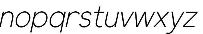Elliot Sans Light Italic Font LOWERCASE