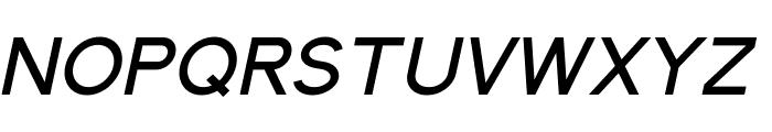 Elliot Sans Medium Italic Font UPPERCASE