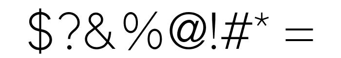 ElliotSans-Light Font OTHER CHARS