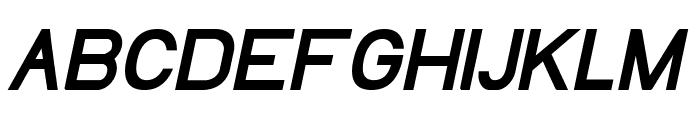 EllipticaBoldItalic Font UPPERCASE