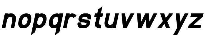 EllipticaBoldItalic Font LOWERCASE