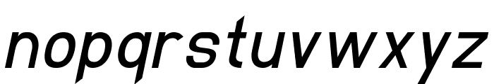 EllipticaItalic Font LOWERCASE