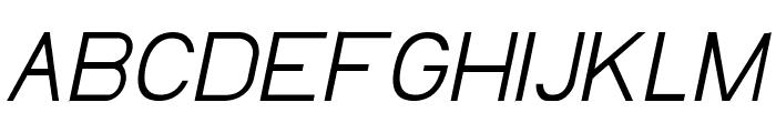 EllipticaLightItalic Font UPPERCASE