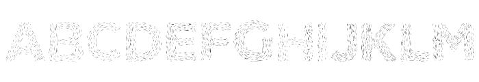 Elmars Hairy Typeface Bold Font UPPERCASE