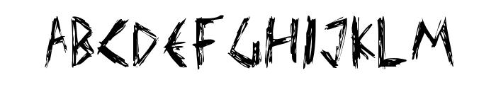 Elmar's scratch type Font UPPERCASE