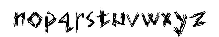 Elmar's scratch type Font LOWERCASE