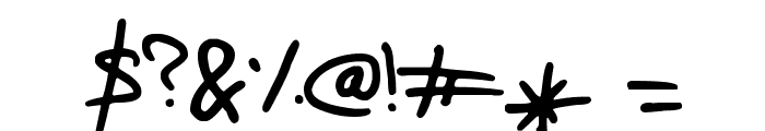 Elo Hand Font OTHER CHARS