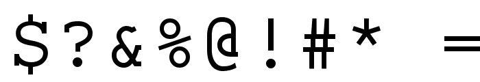 ElroNet Monospace Font OTHER CHARS