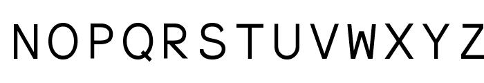ElroNet Monospace Font UPPERCASE