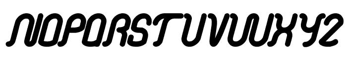 electronic Font LOWERCASE