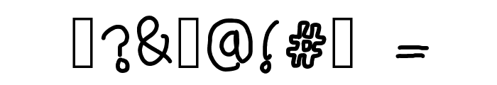 elegantly simple Font OTHER CHARS