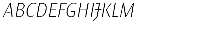 Elemental Sans Pro Extra Light Italic Font UPPERCASE