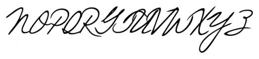 Eleanor Handwriting Regular Font UPPERCASE