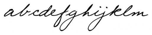 Eleanor Handwriting Regular Font LOWERCASE