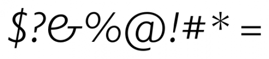 Elido Book Italic Font OTHER CHARS