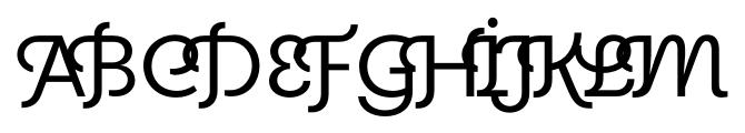 Elido Deco Initials Font UPPERCASE