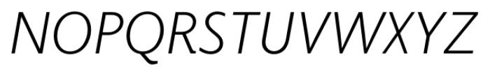 Elido Light Italic Font UPPERCASE