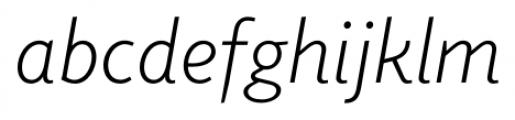 Elido Light Italic Font LOWERCASE