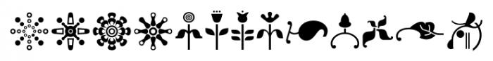 Elido Ornaments Font LOWERCASE