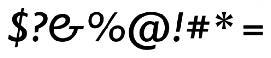 Elido Semi Bold Italic Font OTHER CHARS